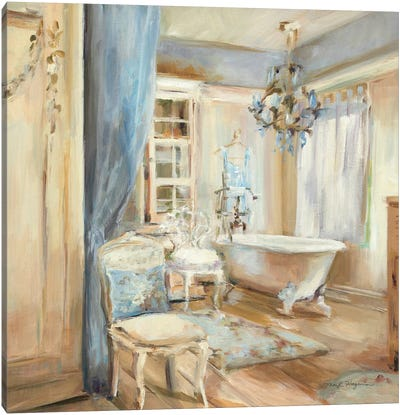 Boudoir Bath I Canvas Art Print