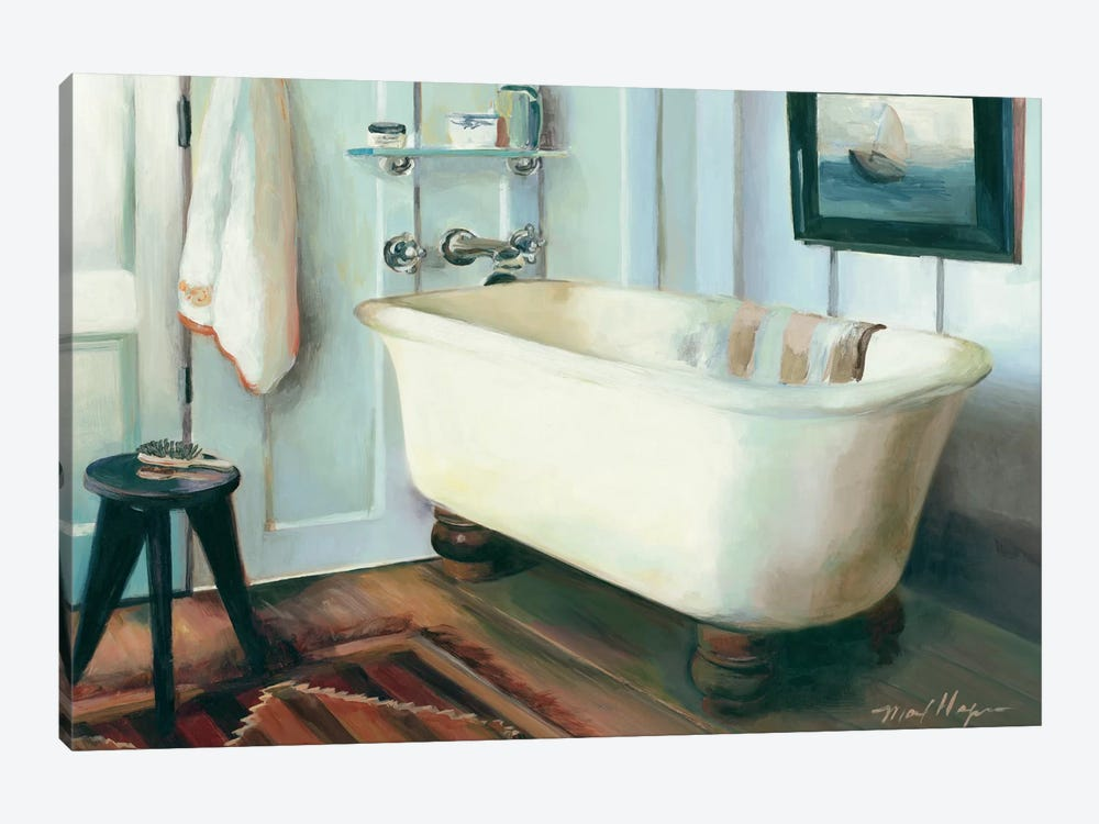 Cape Cod Cottage Tub by Marilyn Hageman 1-piece Canvas Art Print