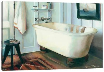 Cape Cod Cottage Tub Canvas Art Print