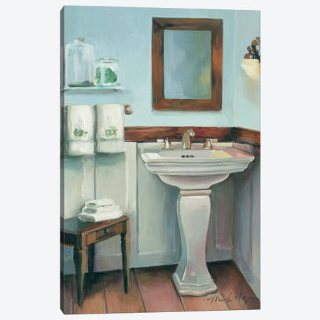 Cottage Sink with Cherrywood Canvas Print #WAC2604} by Marilyn Hageman Canvas Art