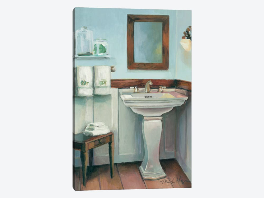 Cottage Sink with Cherrywood by Marilyn Hageman 1-piece Canvas Artwork