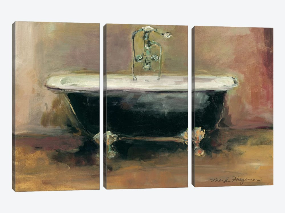 Vintage Tub I by Marilyn Hageman 3-piece Canvas Print