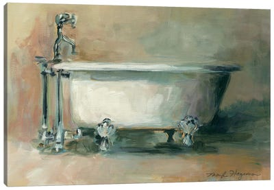 Vintage Tub II Canvas Art Print