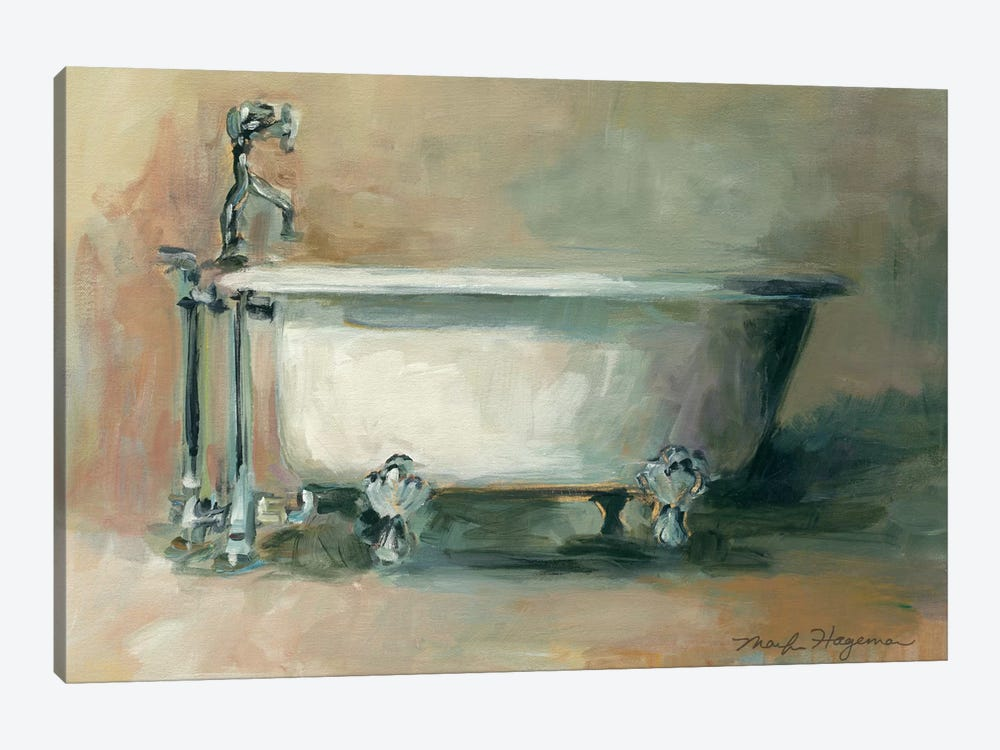 Vintage Tub II by Marilyn Hageman 1-piece Canvas Print