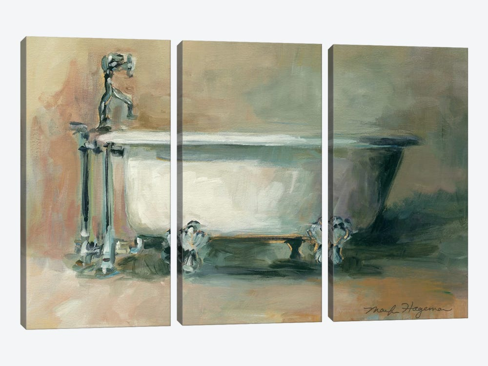 Vintage Tub II by Marilyn Hageman 3-piece Art Print