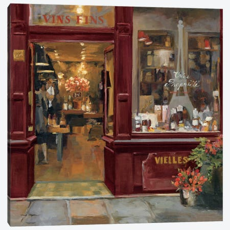 Parisian Shoppe II Canvas Print #WAC2624} by Marilyn Hageman Canvas Wall Art