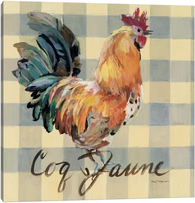 Coq Jaune Canvas Art Print