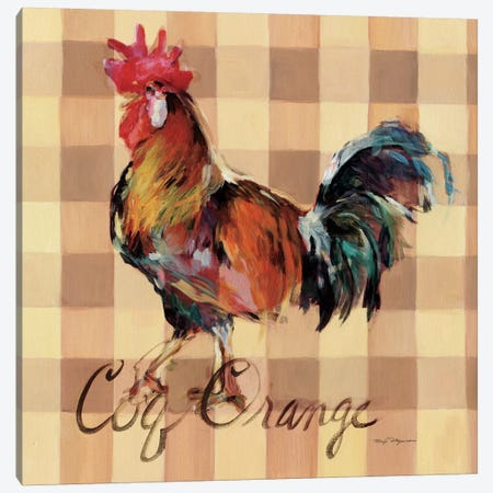 Coq Orange Canvas Print #WAC2639} by Marilyn Hageman Canvas Artwork