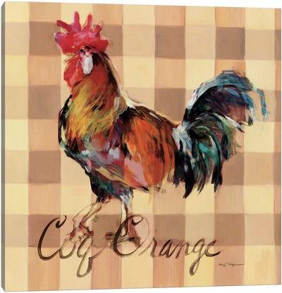 Coq Orange Canvas Print #WAC2639