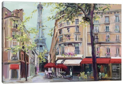 Springtime in Paris by Marilyn Hageman Canvas Art Print