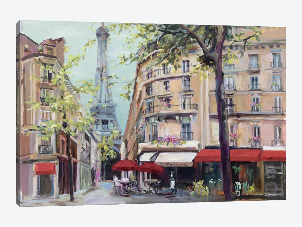 Springtime in Paris by Marilyn Hageman 1-piece Canvas Wall Art