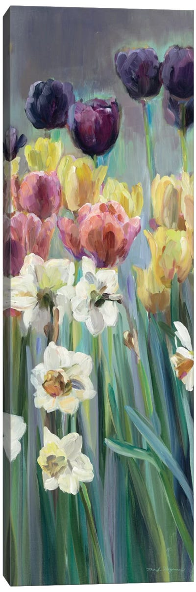 Grape Tulips Panel I Canvas Art Print