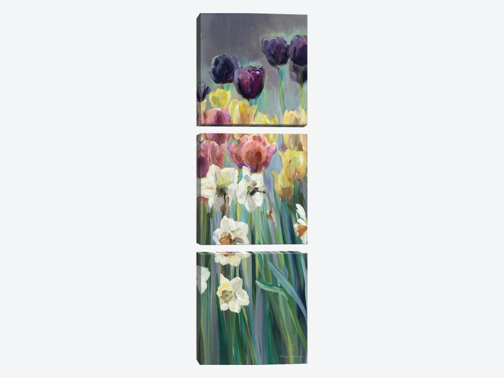Grape Tulips Panel I by Marilyn Hageman 3-piece Canvas Artwork
