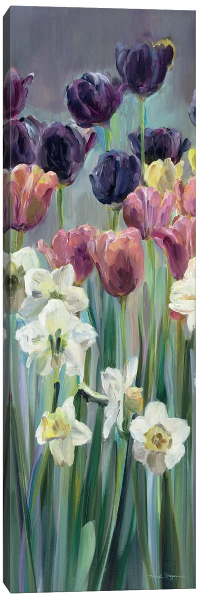 Grape Tulips Panel II Canvas Art Print