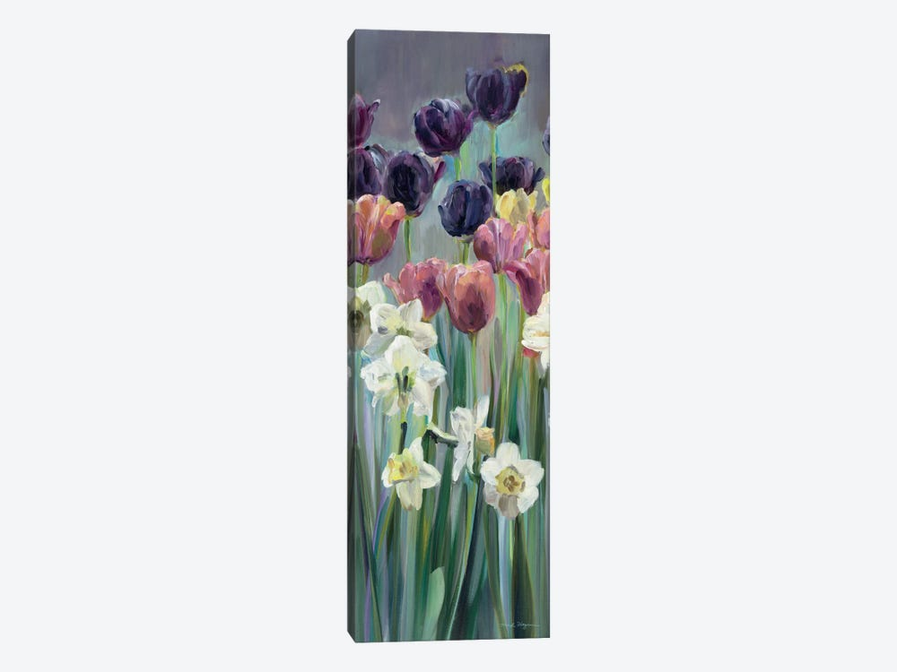 Grape Tulips Panel II by Marilyn Hageman 1-piece Canvas Art Print