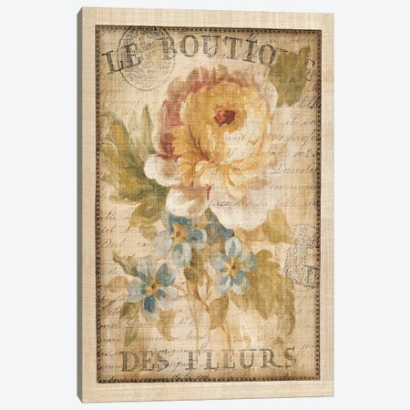 Parisian Flowers I Canvas Print #WAC266} by Danhui Nai Art Print
