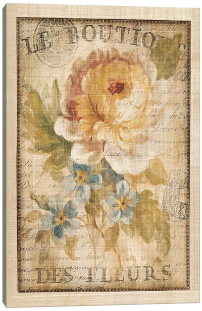 Parisian Flowers I Canvas Print #WAC266
