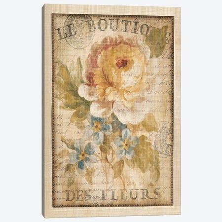 Parisian Flowers I Canvas Print #WAC266} by Danhui Nai Art Print
