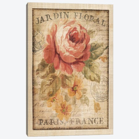 Parisian Flowers II Canvas Print #WAC267} by Danhui Nai Art Print