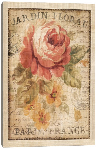 Parisian Flowers II Canvas Art Print