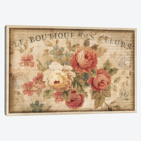 Parisian Flowers III Canvas Print #WAC268} by Danhui Nai Canvas Wall Art
