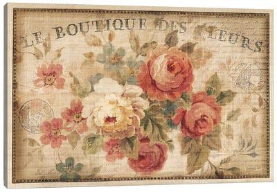 Parisian Flowers III Canvas Art Print