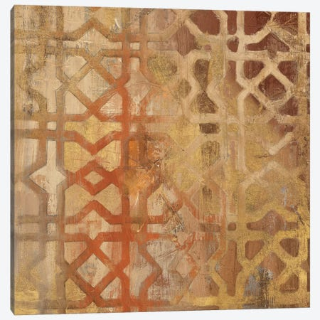 Gilded Trellis I Canvas Print #WAC2719} by Albena Hristova Canvas Print