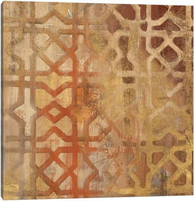 Gilded Trellis I Canvas Art Print