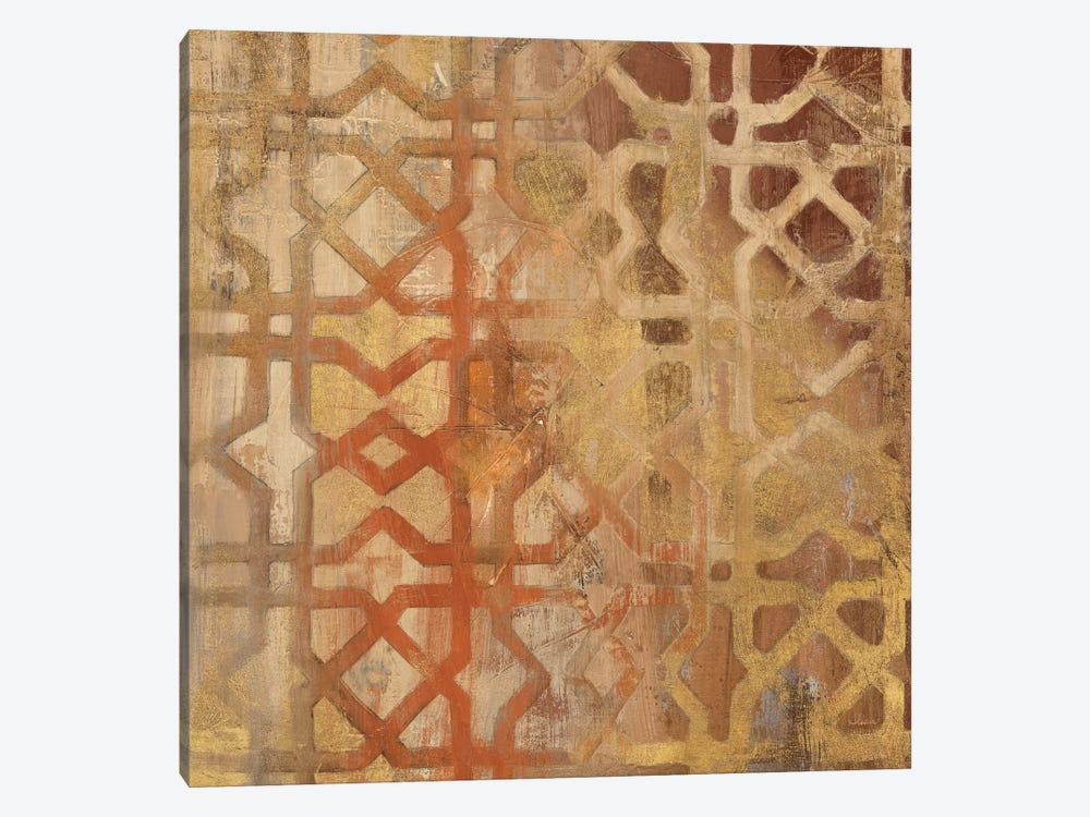 Gilded Trellis I by Albena Hristova 1-piece Canvas Art Print
