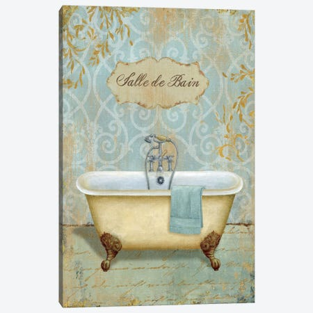 Salle de Bain I  Canvas Print #WAC271} by Daphne Brissonnet Canvas Art Print