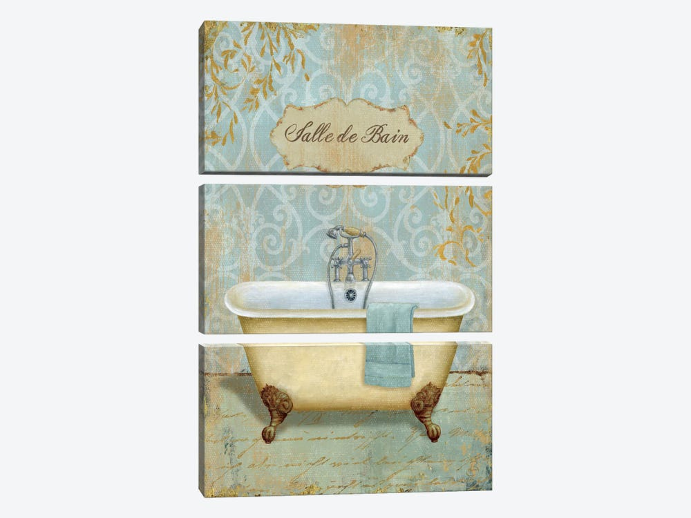 Salle de Bain I by Daphne Brissonnet 3-piece Canvas Print