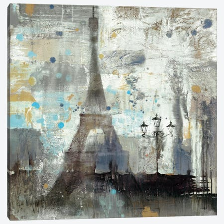 Eiffel Tower Neutral Canvas Print #WAC2720} by Albena Hristova Canvas Art