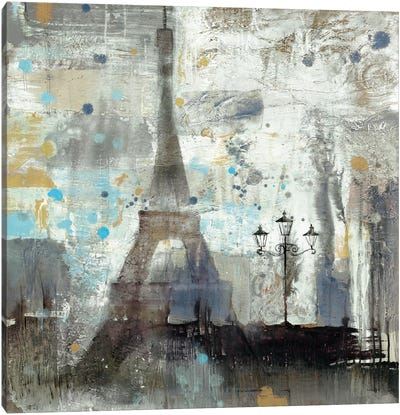 Eiffel Tower Neutral Canvas Art Print