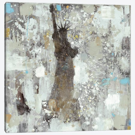Statue of Liberty Neutral Canvas Print #WAC2721} by Albena Hristova Canvas Art