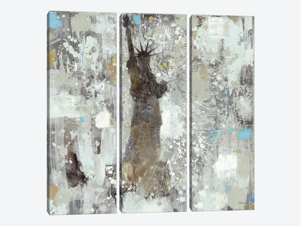 Statue of Liberty Neutral 3-piece Canvas Art