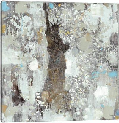 Statue of Liberty Neutral Canvas Art Print
