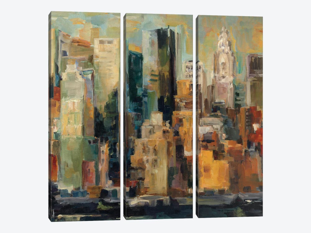 New York, New York by Albena Hristova 3-piece Canvas Print