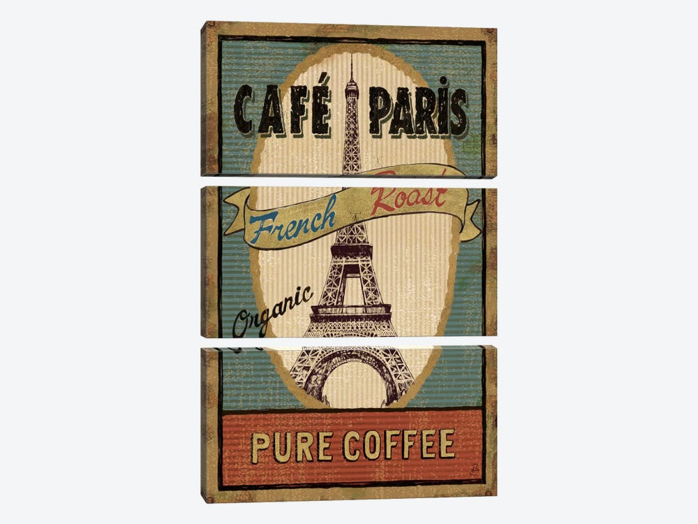 Coffee Blend Label II by Daphne Brissonnet 3-piece Canvas Art