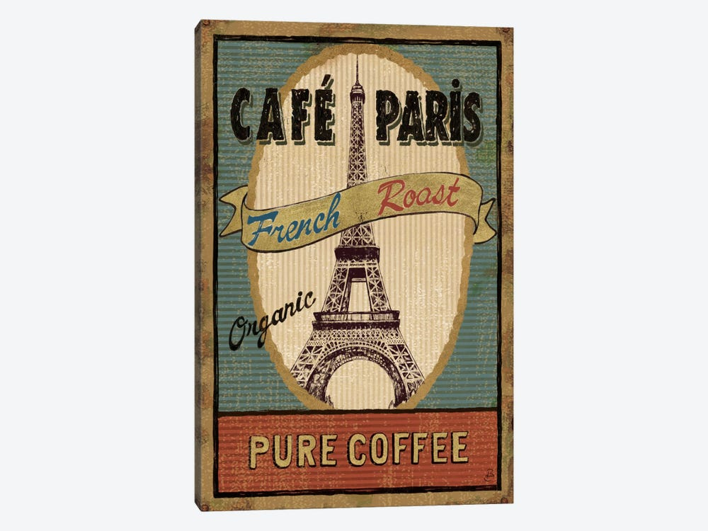 Coffee Blend Label II  by Daphne Brissonnet 1-piece Canvas Wall Art