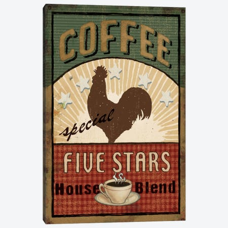 Coffee Blend Label III  Canvas Print #WAC275} by Daphne Brissonnet Canvas Art