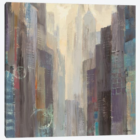 City at Dawn Canvas Print #WAC2780} by Albena Hristova Canvas Wall Art