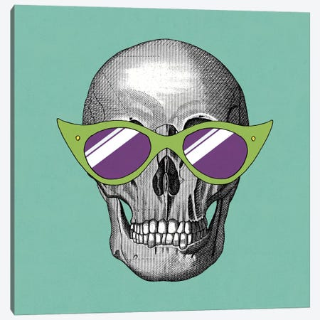 Sunny Skull II Canvas Print #WAC2801} by Elyse DeNeige Canvas Art Print