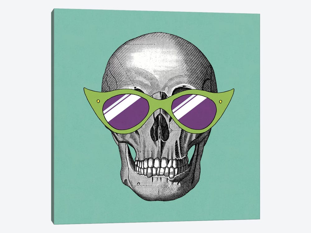 Sunny Skull II by Elyse DeNeige 1-piece Canvas Artwork
