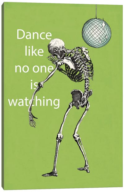 A Skeleton Walks Into a Bar I Canvas Print #WAC2804