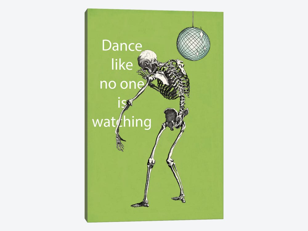 A Skeleton Walks Into a Bar I by Elyse DeNeige 1-piece Canvas Art Print