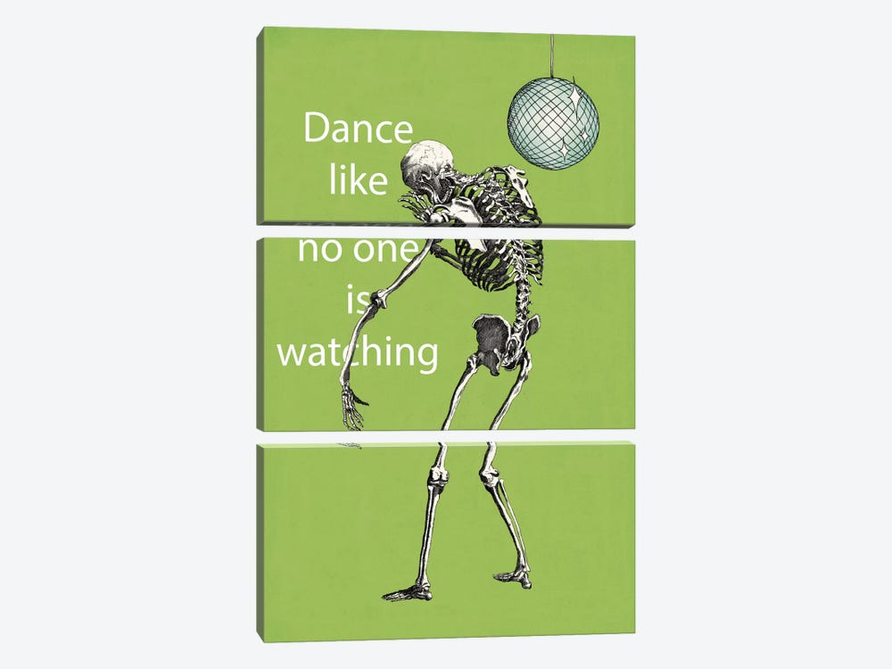 A Skeleton Walks Into a Bar I by Elyse DeNeige 3-piece Canvas Art Print