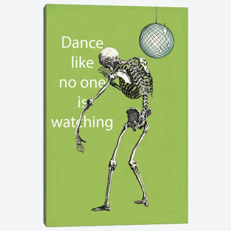 A Skeleton Walks Into a Bar I Canvas Print #WAC2804} by Elyse DeNeige Canvas Artwork