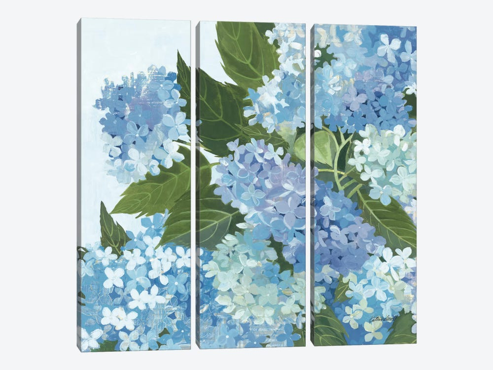 Decorative Hydrangea I by Kathrine Lovell 3-piece Canvas Print