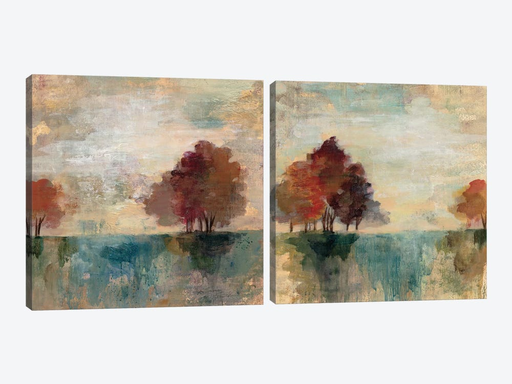 Landscape Monotype Diptych 2-piece Canvas Art