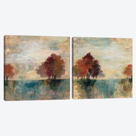 Landscape Monotype Diptych Canvas Print Set #WAC2HSET007} by Silvia Vassileva Art Print
